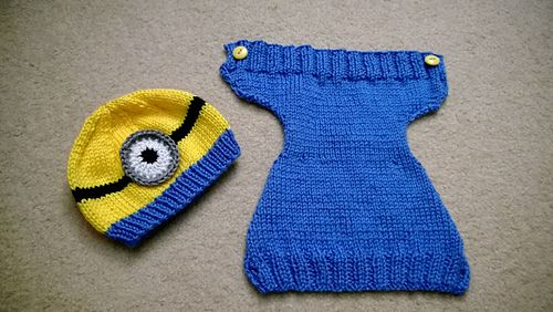 Dress up your own little minion! Perfect for Halloween or any time.