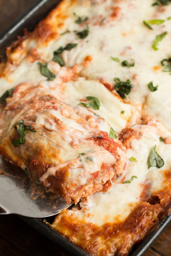 Easy lasagna that also happens to be the best recipe ever ohsweetbasil.com