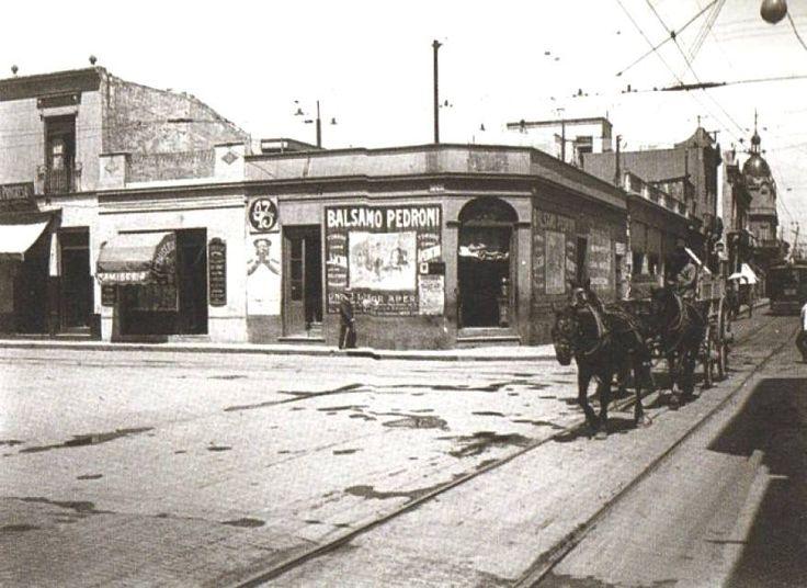 Suipacha y Viamonte en 1908.