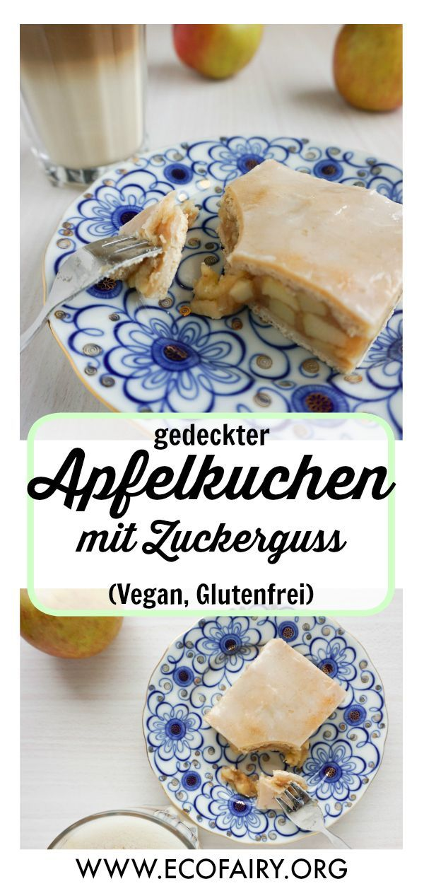 covered apple cake with frosting (vegan, gluten-free)