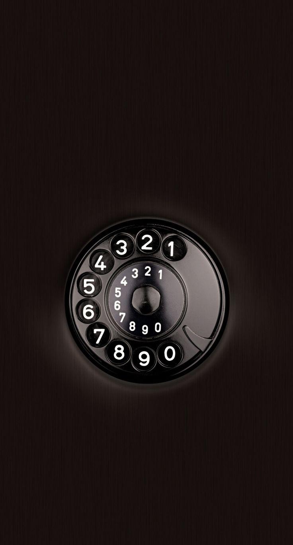 Black And White Phone Dial ⭐ Сотовый телефон обои