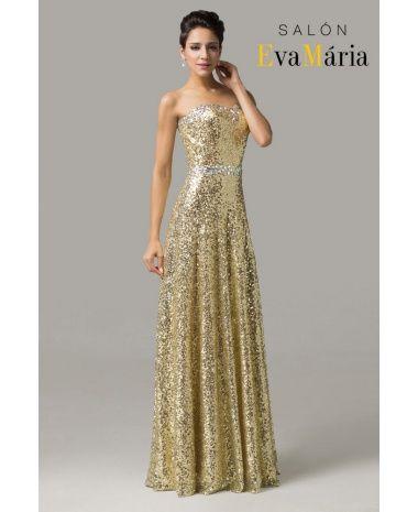 Zlaté plesové / večerné šaty Delores