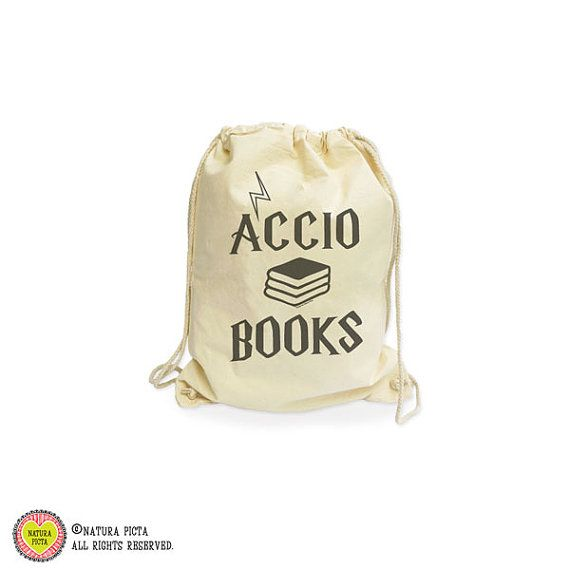 Accio books organic gymsack-library bag-Potter gym by naturapicta