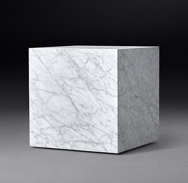 Marble Plinth Cube Side Table Cube Side Table Side Table White Marble Table