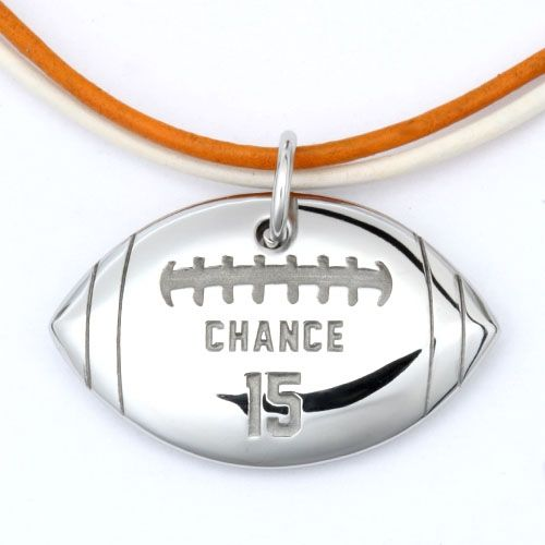 MyMVP™ Football Necklace from Carved Creations, for the Sports Moms out there :)