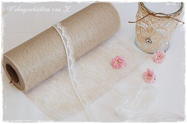 #Tischband aus Vlies in cremefarben. Ideal als #Tischdeko für die #Hochzeit im #Vintage- oder #Shabby-Stil.  http://de.dawanda.com/product/84738843-tischband-20m-x-20cm-tischlaeufer-ivory-hochzeit