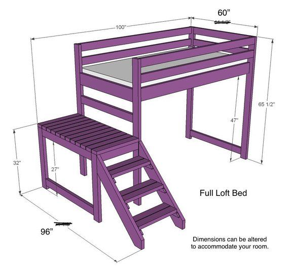 Full Size Loft Bed With Stairs Payment Plan 4 Payments Loft Bed
