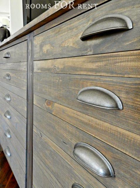 Restoration look - weather grey stain