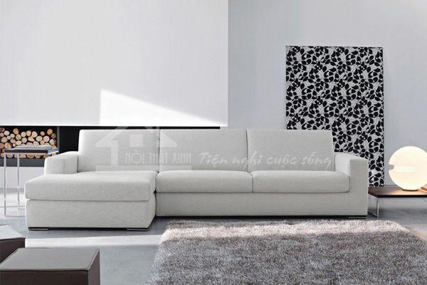 Bộ sofa bọc nỉ cao cấp cho chung cư hiện đại