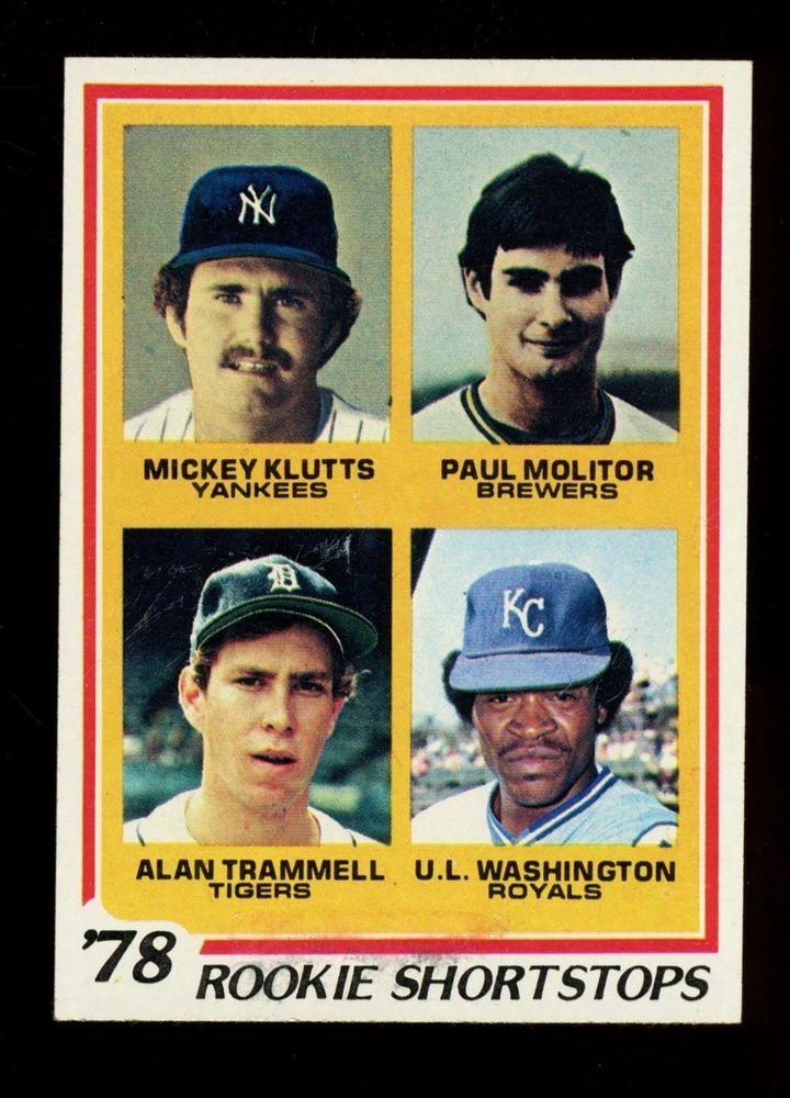1978 topps 707 rookie shortstops w alan trammell detroit