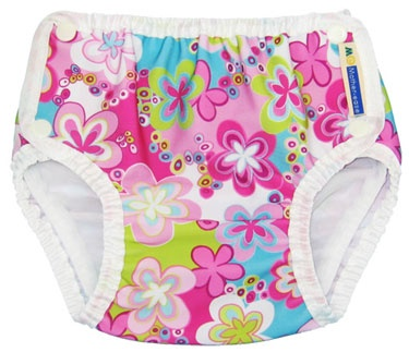 Lovely floral swimming nappies.  Soft and stretchy with adjustable popper fastening for a quick change.
