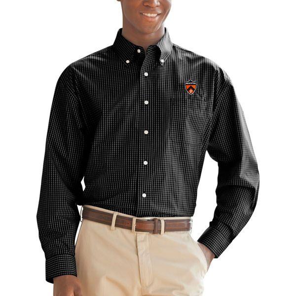 Princeton Tigers Box Plaid Poplin Button-Down Long Sleeve Shirt - Black - $49.99