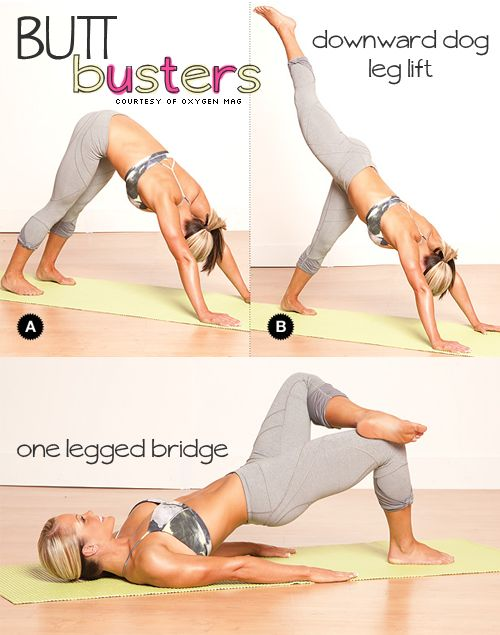 Looking to tone up that booty before school starts? These two moves courtesy of Oxygen Mag are perfect ways to start off your day. Make them the first thing you do when you wake up in the morning or pair them with various other moves during your workouts.
