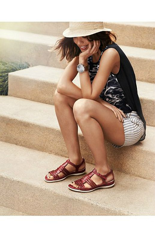 ECCO Flash sandals updated huarache sandal set on an anatomical footbed summer 2014