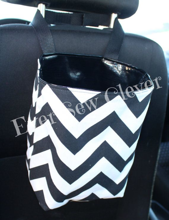 Travel Trash Container Trash Bag Car Accessory by EverSewClever, $15.00 (in red)
