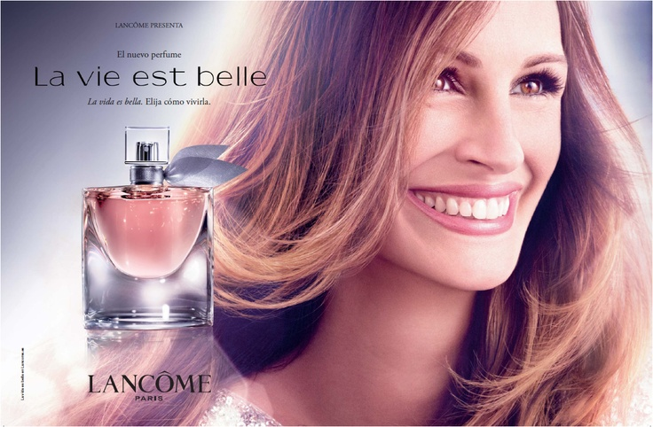 Julia Roberts is an ambassador for Lancome since 2010. Above she is featured in the La Vie Est Belle perfume ad. (*source unknown)