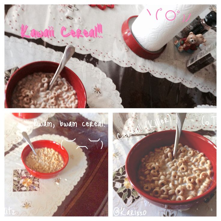 Cereal, in the morning!!! ~ヾ(・ω・)