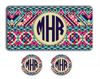 Monogram license plate or frame Personalized by ToGildTheLily