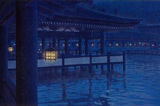 平山郁夫  月華厳島、1993