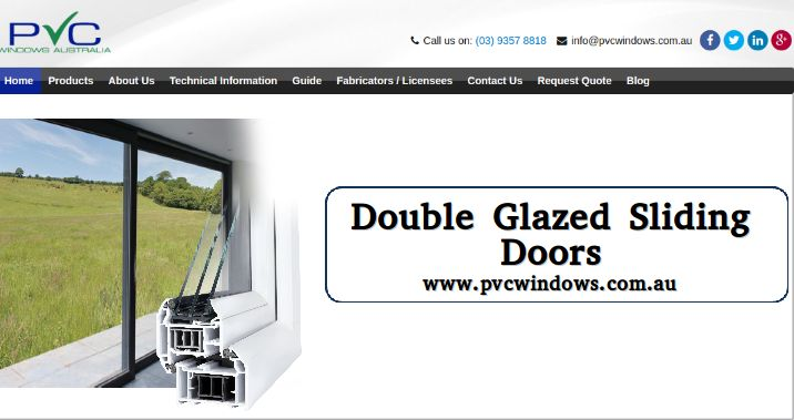 The modernised Double Glazed Sliding doors enhance the beauty of a house and the landscaping and architectural style around it. #DoubleGlazedSlidingDoors