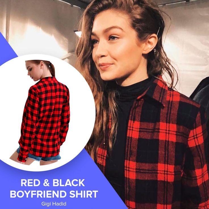 Red Black Boyfriend Shirt Kylie Jenner Look //Price: $8.80 & FREE Shipping //     #emmawatson #bellahadid #gigihadid #hadid #kardashian #beyonce