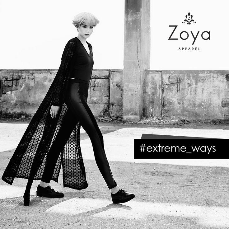 Meet Zoya's FW2015 extreme ways of expression.. #zoya #apparel #extreme #fashion #style #fw2015