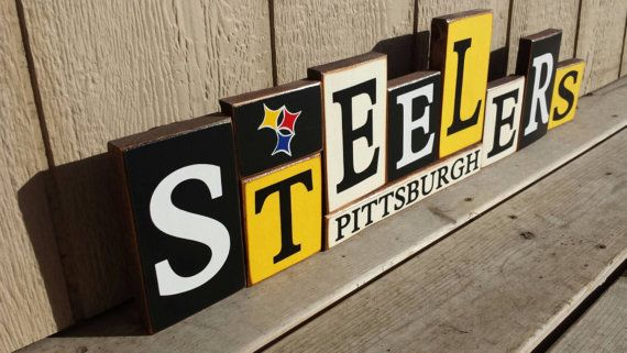 Pittsburgh Steelers Blocks by BountifulCrafts on Etsy