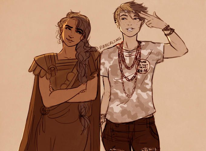 Thalia And Reyna By Ratterling Percy Jackson Fan Art Reyna Percy Jackson Percy Jackson Art