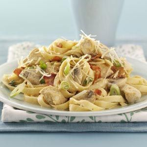 Chicken Fettuccine Alfredo Recipe from Taste of Home -- shared by Sandy Schmitzer of Swartz Creek, Michigan