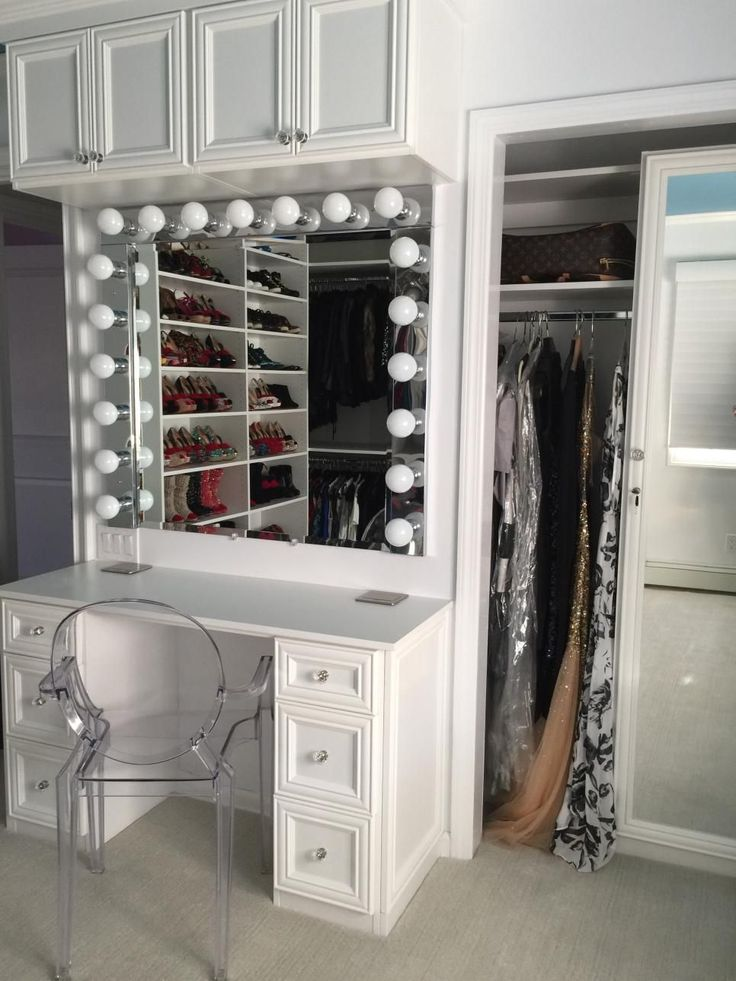 Great Designer Courtney Blaymore Closely Followed Her Clientu0027s Wishes By  Installing A Make Up Vanity Inside This Walk In Closet And Dressing Area.