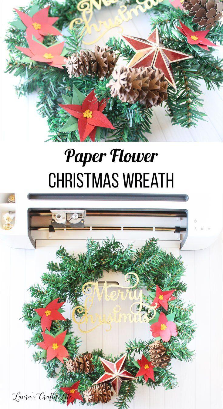 Paper Flower Christmas Wreath Christmas Wreaths Diy Christmas