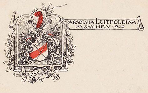 Absolvia Luitpoldiana (Luitpold-Gymnasium) München 1900