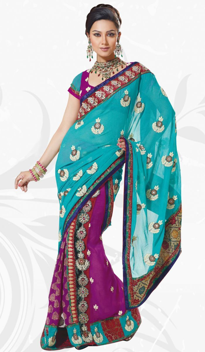 This garment is a sari. These are worn by women in India. There are over 100 ways to wear this garment. It is worn by draping it over the body. It is worn by almost every social class and religious group.