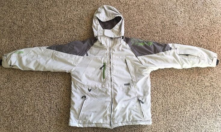 MORROW SNOWBOARDING SKI JACKET COAT MEN SIZE LARGE BEIGE INSULATED  | eBay