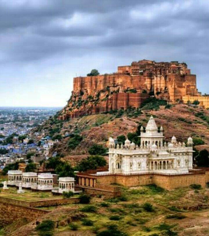 Jashvant thada, Merangarh fort, Jodhpur, Rajasthan, India.