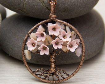 Tree Of Life Necklace Pendant 16 Aventurine por JewelryFloren