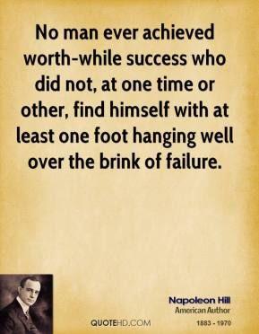 Napoleon Hill foot quote.
