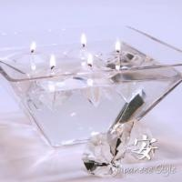 floating candle, diamond candle, gel candle