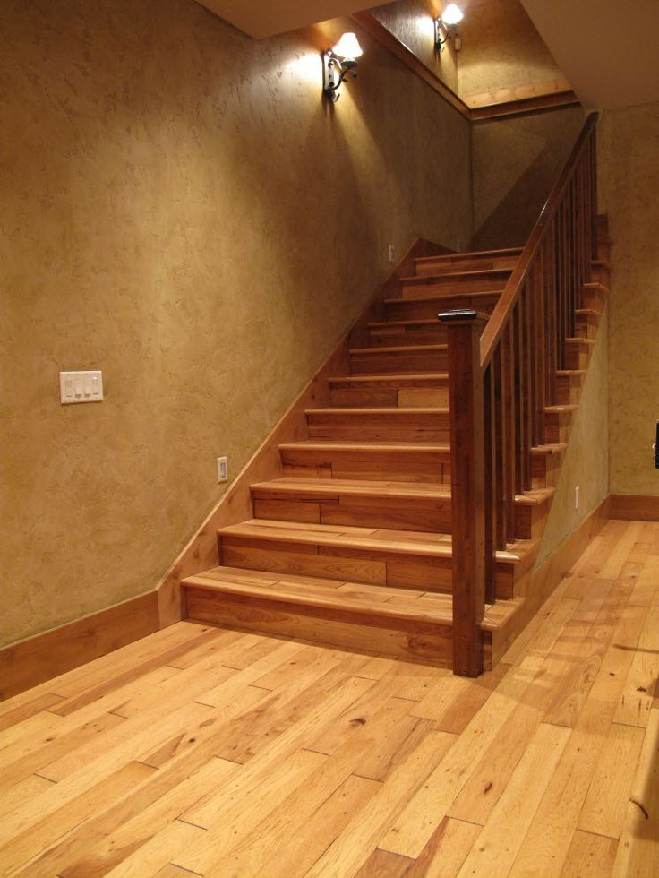 Stair Systems Distressed Knotty Alder Staircase With