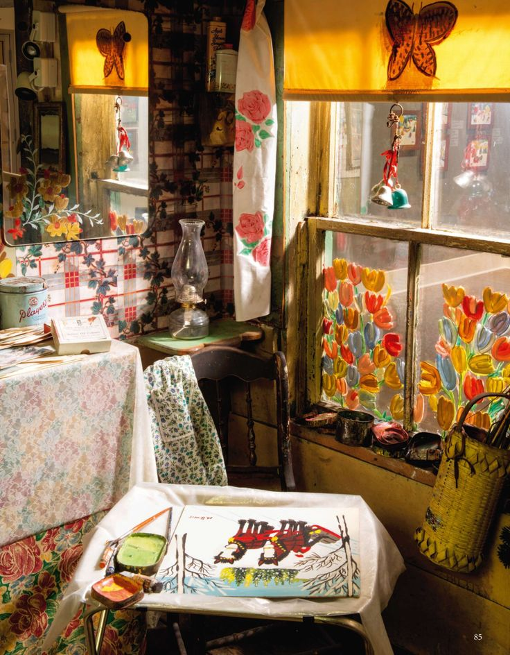 Get inspired by the colours of Maud Lewis' house. You can find it inside the #Art Gallery of #NovaScotia or on the pages The World of Interiors magazine.