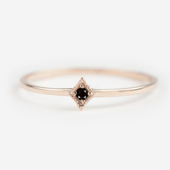 Hey, I found this really awesome Etsy listing at https://www.etsy.com/listing/255867458/tiny-black-diamond-ring-black-diamond