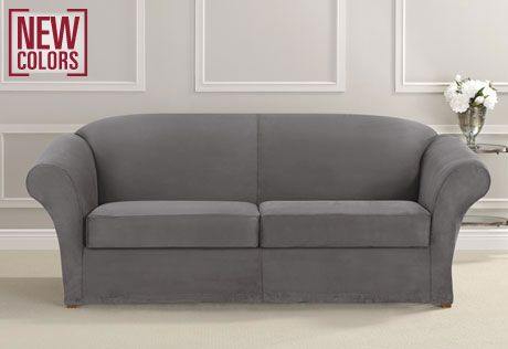 Sure fit slipcovers ultimate heavyweight stretch suede for Ultimate sofa bed