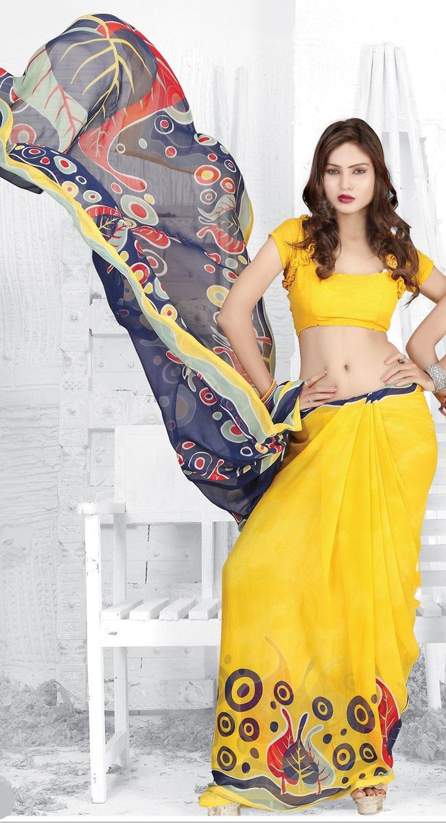 Designer Printed #Saree at Best Prices...! To order / Inquire, please email us to: info@kolkozy.com visit my site more info : http://www.kolkozy.com/women/sarees.html Thank you and happy shopping!