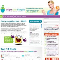 The Frog launches a full scale weight loss comparison site for WLC.