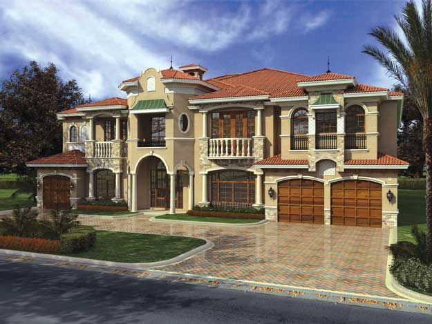 Best Spanish Mediterranean Home Plans Images On Pinterest - Mediterranean style house