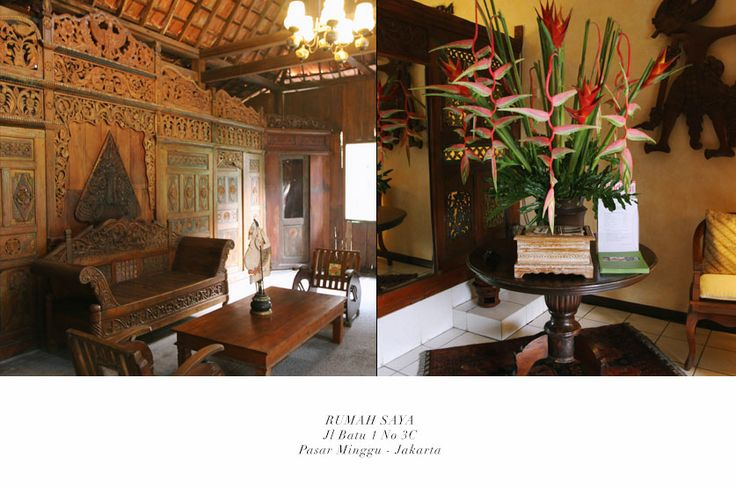 Rumah Saya A javanese house, at pejaten, indoor and semi outdoor, have to use internal vendors, starting 8.5 Mio for rental fee
