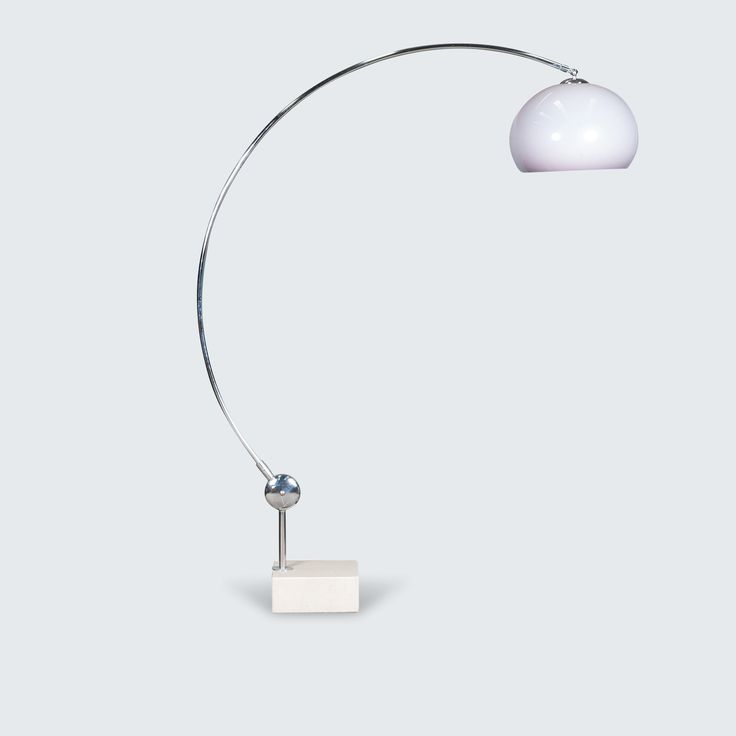 DUTCH ARCO PLEXI LAMP WITH MARBLE BASE, 1960S line Spectacular Arco lamp with Marble base. An iconic statement piece that brings sophistication to any living space. Complete with perfect curves and a solid marble base.