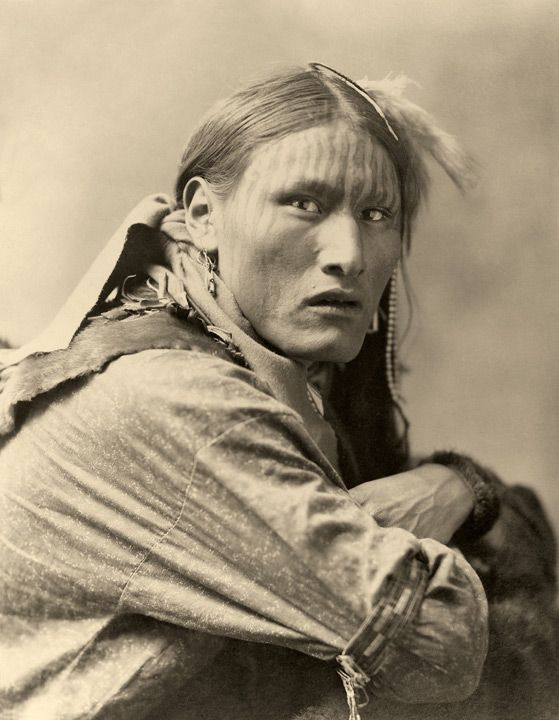 An old photograph of the Native American known as White Belly - Sioux. ©Jack Leustig Imaging