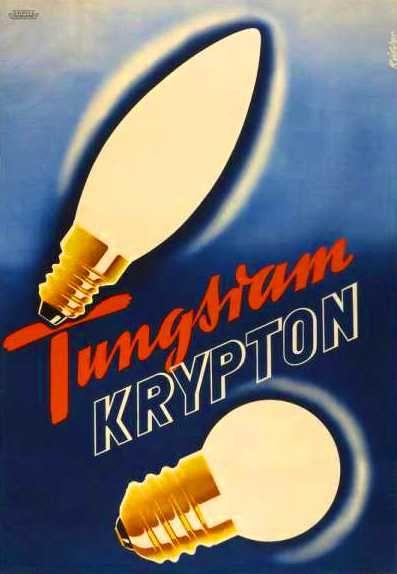 Tungsram Krypton égő retro plakát poster