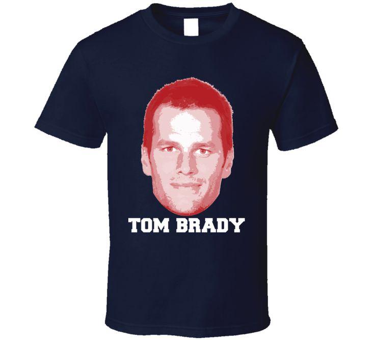 Tom Brady Face Big Head New England Football Player Fan T Shirt